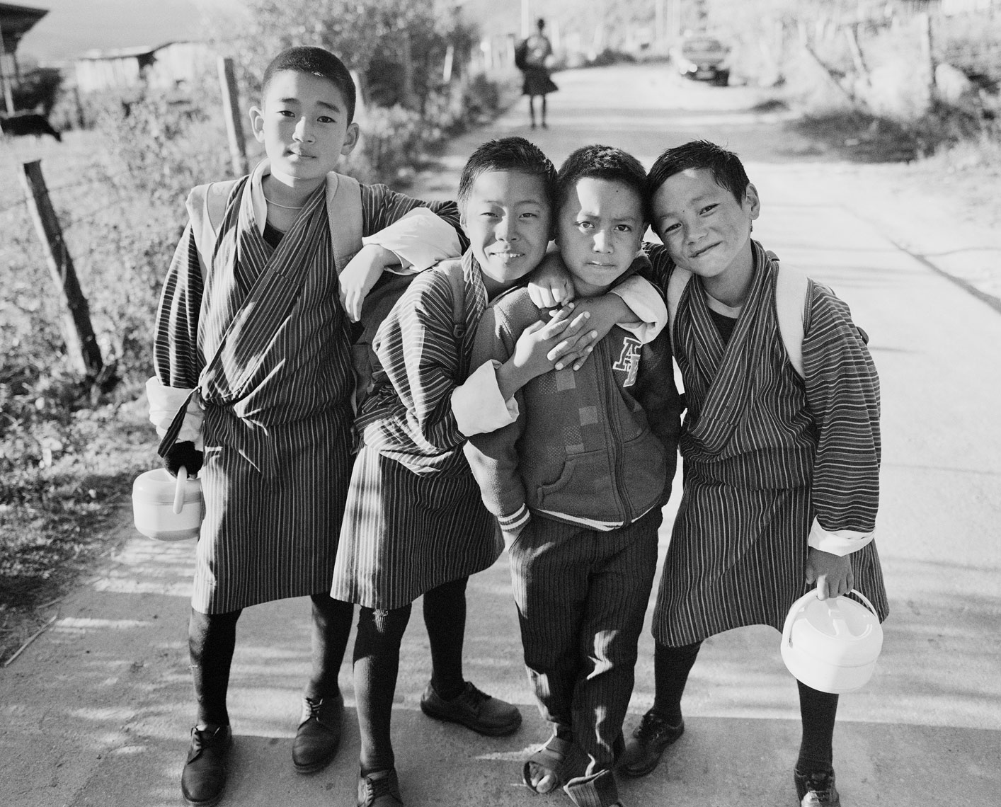 bumthang-boys-on-road-v2-print